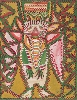 Anselme Boix-Vives : Ministre lunaire, 1963 Gouache sur carton 65 x 50 cm