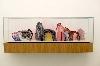 Drawing Now. Une assise pour le dessin contemporain : Guillaume Dégé. Sans titre. 2017,  vitrine en chene et capot de verre,  gouache sur papier XVIIe contrecollé sur carton,  47,5 x 120 x 25 cm. Courtesy de l'artiste et Semiose, Paris