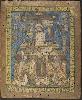 Plumes. Visions de l'Amérique précolombienne : Mur concave oculi : Hernan Cortes et Dona Marina. Gravure, 19e siècle.  Musée des Jacobins, Auch.