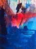 Agnès Bourély  –  Abstractions : Agnès Bourély, « Chameau », acrylique sur toile, 130 x 97 cm