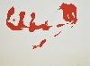 Christian Sorg. Peintures de fêtes et suites rupestres : Christian Sorg. Suite Rupestre pour El Cogul V. 2017 Acrylique sur papier, 50 x 65 cm