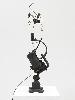 Jean Tinguely. '60s : Vive la Muerta. 1963, socle en acier, métal, jouet à ressorts, moteur électrique, 76 x 19 x 24 cm. Courtesy NCAF et Galerie GP & N Vallois, Paris. Photo : André Morin