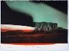 15e biennale internationale de la gravure à Sarcelles : Tony Soulié - Monument Valley. Photogravure et aquatinte. 56 x 76 cm. © Jean-Yves Lacôte